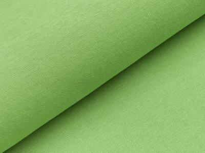 Glattes Bündchen im Schlauch -  uni helles grün