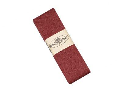 Jersey Schrägband Oaki doki gefalzt 20 mm x 3 m - rost