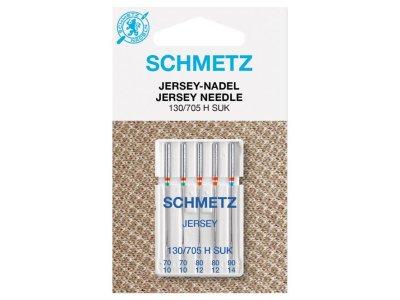 Schmetz 5 Nähmaschinennadeln 130/705 H SUK Jersey 70-90