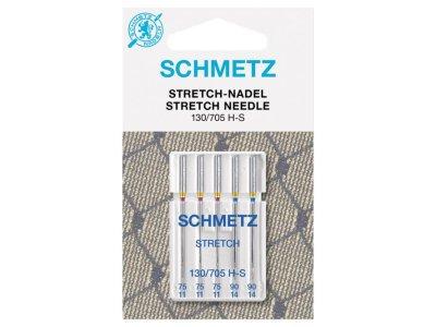 Schmetz 5 Nähmaschinennadeln 130/705 H-S Stretch 75-90