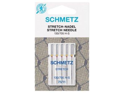 Schmetz 5 Nähmaschinennadeln 130/705 H-S Stretch 75/11