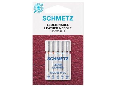 Schmetz 5 Leder-Nähmaschinennadeln 130/705 H LL Leder 80-100