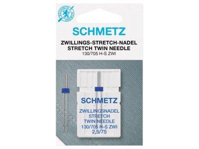 Schmetz Doppel-Nähmaschinennadel 130/705 H-S ZWI Stretch 75/2,5 mm