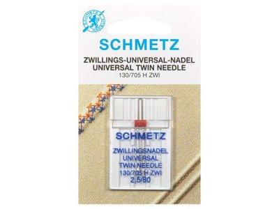 Schmetz Doppel-Nähmaschinennadel 130/705 H ZWIUniversal 2,5/80 mm