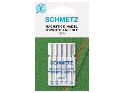 Schmetz 5 Nachstick Nähmaschinennadeln Universal Topstitch 80-100 130N