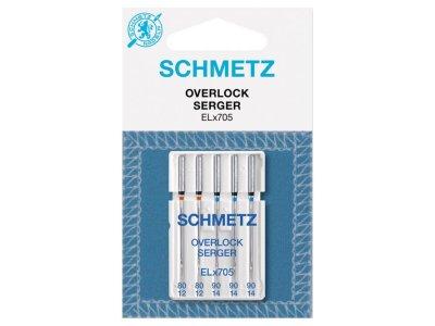 Schmetz 5 Overlock-Nähmaschinennadeln Overlock 80-90 EL x 705