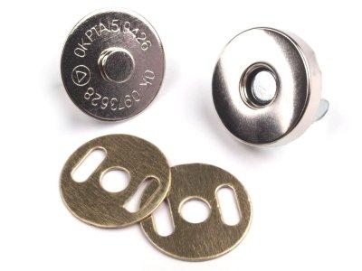 Magnetverschluss 4 Stk. ( 16 Teile )  Ø18 mm silbern