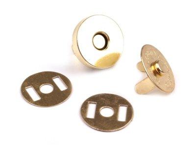 Magnetverschluss 4 Stk. ( 16 Teile ) Ø18 mm gold