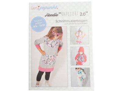 """Papier-Schnittmuster Lenipepunkt - Hoodie """"Kapuziert 2.0"""" - Kids"""