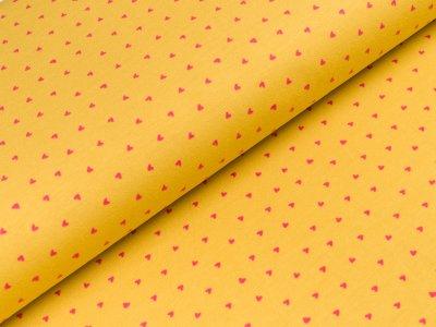 Jersey - kleine Herzen - gelb
