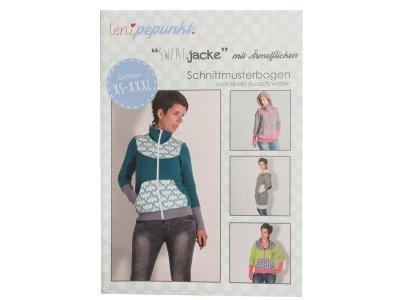 "Papier-Schnittmuster Lenipepunkt - Jacke ""Sweatjacke mit Ärmelflicken"" - Damen"