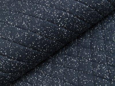 Rautenstepper - Sprenkel - meliert dunkles blau