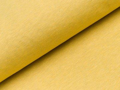 Leicht angerauter Sweat - kleine schmale Streifen - gelb