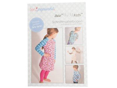 """Papier-Schnittmuster Lenipepunkt - Shirt/Pulli """"Reglankids"""" - Kids"""