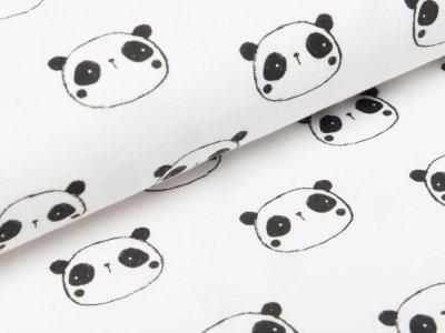 Webware Flanell - Pandas - wollweiß