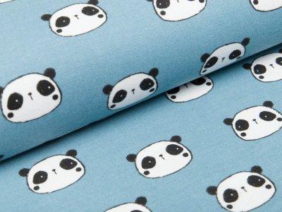 Webware Flanell - Pandas - jeansblau