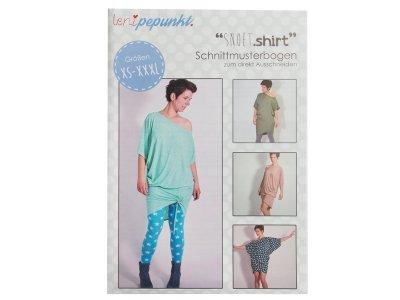 """Papier-Schnittmuster Lenipepunkt - Longshirt """"Snoetshirt"""" - Damen"""