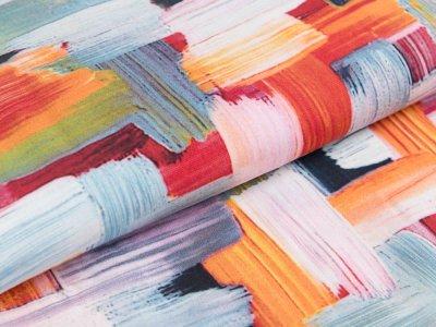 Webware Viskose Radiance Digitaldruck - Rosella by Penelope - dicke Pinselstriche - bunt