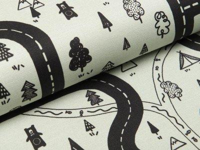 Canvas Adventure - Spielstraße und Bäume - helles mint