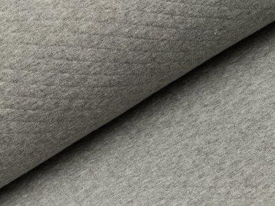 Jersey Rautenstepper - uni meliert grau