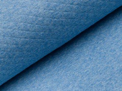 Jersey Rautenstepper - uni meliert blau