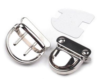 Steckverschluss / Mappenschloss 1 Stk. ca. 30 x 32 mm - nickel