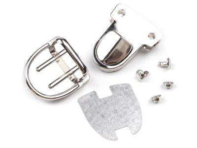 Steckverschluss / Mappenschloss 1 Stk. ca. 30 x 39 mm - nickel