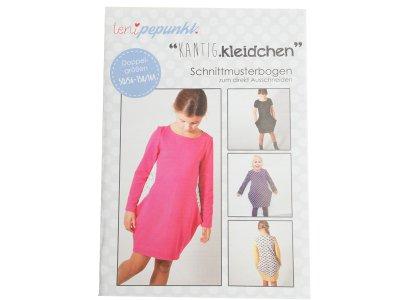 "Papier-Schnittmuster Lenipepunkt - Kleid ""Kantigkleidchen"" - Mädchen"