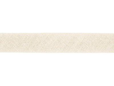 Hochwertiges Schrägband Baumwolle gefalzt 20 mm - uni creme