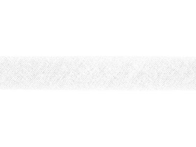 Hochwertiges Schrägband Baumwolle gefalzt 20 mm - uni wollweiß