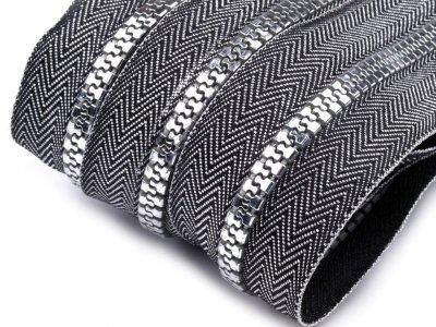 Endlos-Reißverschluss 5mm - silber