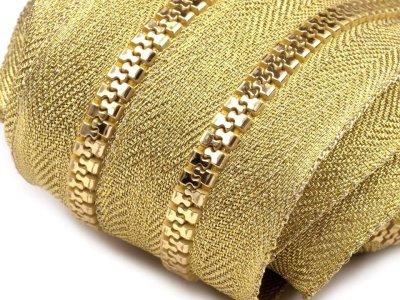 Endlos-Reißverschluss 5mm - gold