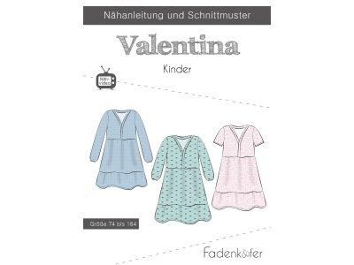 Papier-Schnittmuster Fadenkäfer - Kleid VALENTINA - Kinder