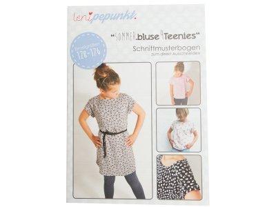 """Papier-Schnittmuster Lenipepunkt - Shirt/Bluse """"Sommerbluse4Teens"""" - Mädchen"""