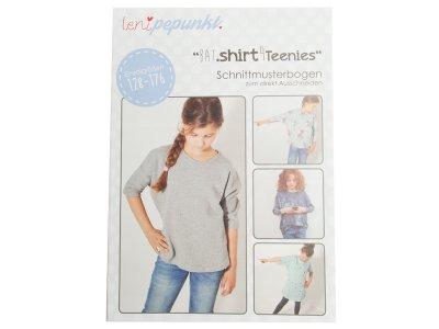 """Papier-Schnittmuster Lenipepunkt - Fledermausshirt """"Bat.shirt4Teens"""" - Mädchen"""