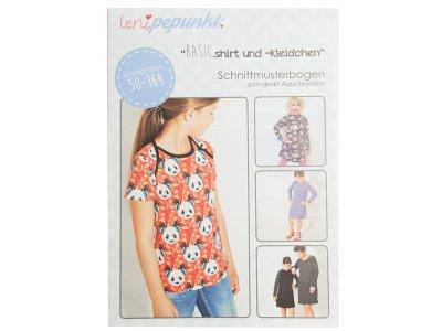 """Papier-Schnittmuster Lenipepunkt - Kleid/Shirt """"Basickleidchen"""" - Mädchen"""