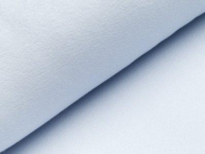 Baumwoll Fleece - uni helles blau
