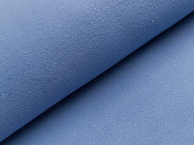 Baumwoll Fleece - uni blau