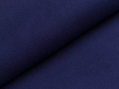 Baumwoll Fleece - uni dunkles blau