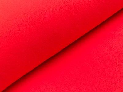 Baumwoll Fleece - uni rot