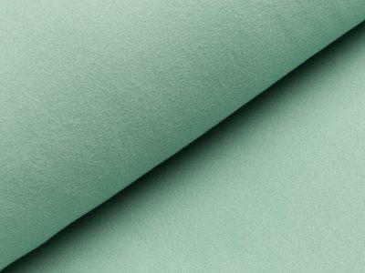 Baumwoll Fleece - uni mint