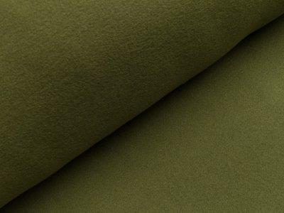 Baumwoll Fleece - uni grün