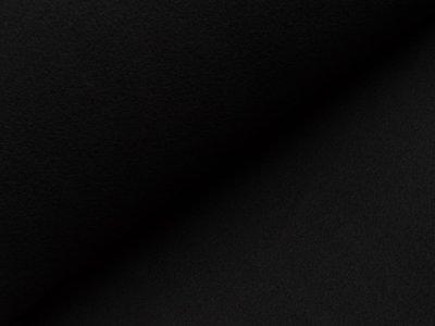 Baumwoll Fleece - uni schwarz