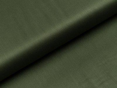 Merzirisierte Baumwolle Romantico - uni olivgrün