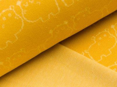 Jacquard-Jersey - Nilpferde - gelb