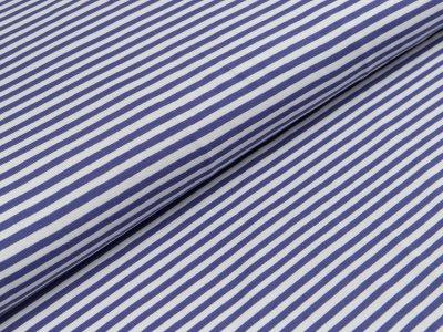 Jersey - schmale Streifen - helles grau/dunkles blau
