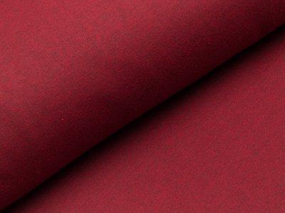 Leicht angerauter Sweat - meliert dunkles rot