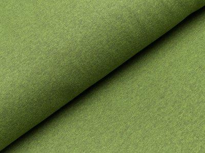 Leicht angerauter Sweat - meliert grün
