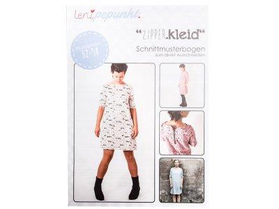 """Papier-Schnittmuster Lenipepunkt - Kleid """"Zipperkleid"""" - Damen"""