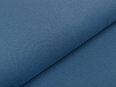 Leicht angerauter Interlock Snoozy - uni jeansblau